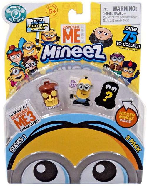 Despicable Me Minions Mineez Series 1 Tiki Trash Can & Picketing Minion Mini Figure 3-Pack