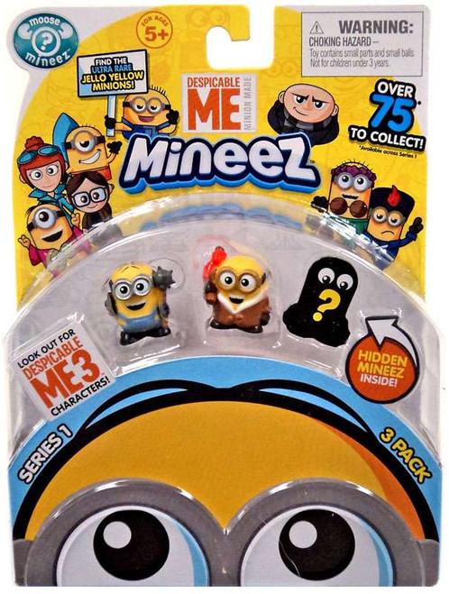 Despicable Me Minions Mineez Series 1 Masher Minion & Bored Silly Bob Mini Figure 3-Pack