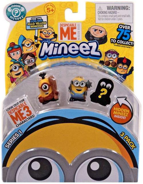 Despicable Me Minions Mineez Series 1 Cro-Minion & Masher Minion Mini Figure 3-Pack