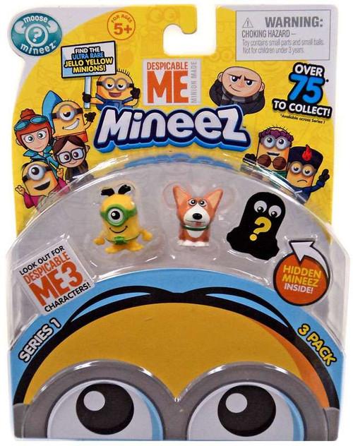Despicable Me Minions Mineez Series 1 Au Naturel Minion & Yard Dog Mini Figure 3-Pack