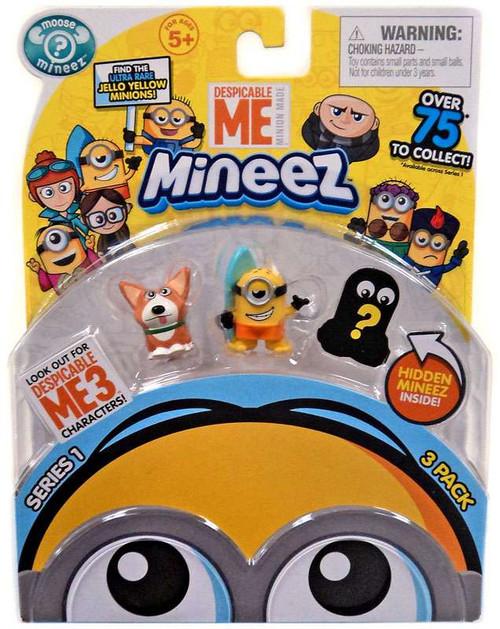 Despicable Me Minions Mineez Series 1 Yard Dog & Surf's Up Minion Mini Figure 3-Pack
