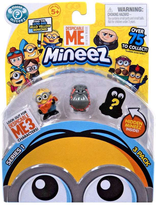 Despicable Me Minions Mineez Series 1 Ukulele Minion & Luau Kyle Mini Figure 3-Pack
