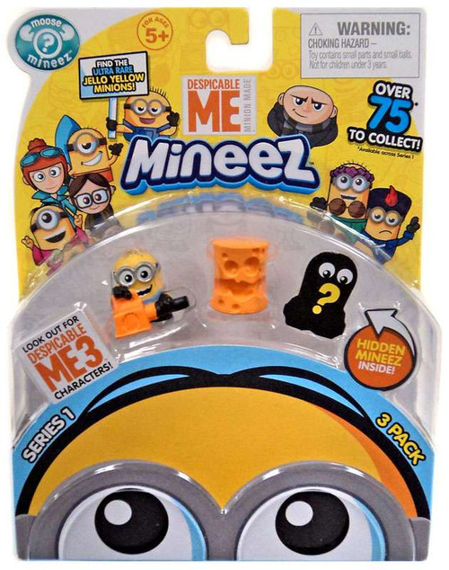 Despicable Me Minions Mineez Series 1 Cheez Head & Leaf Blower Minion Mini Figure 3-Pack