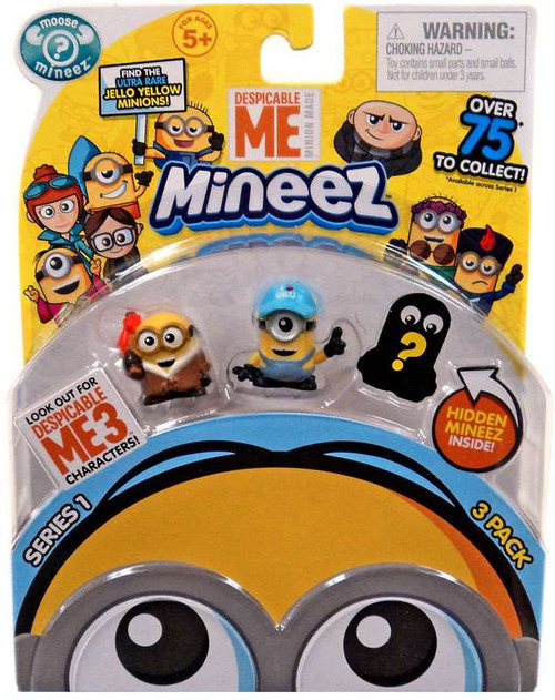 Despicable Me Minions Mineez Series 1 Bored Silly Bob & Boss Man Mel Mini Figure 3-Pack