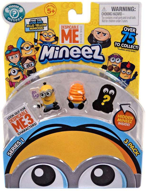 Despicable Me Minions Mineez Series 1 Picketing Minion & Beehive Minion Mini Figure 3-Pack