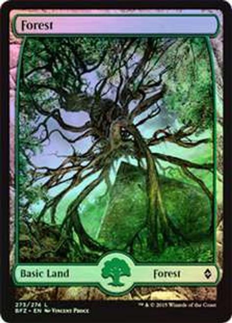MtG Battle for Zendikar Land Forest #273 [Full-Art Foil]