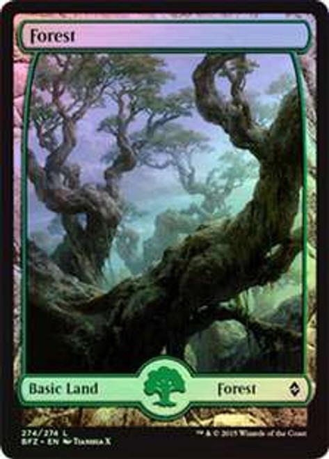 MtG Battle for Zendikar Land Forest #274 [Full-Art Foil]