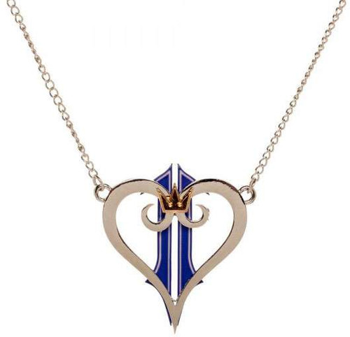 Disney Kingdom Hearts Kingdom Heart Logo Necklace Apparel