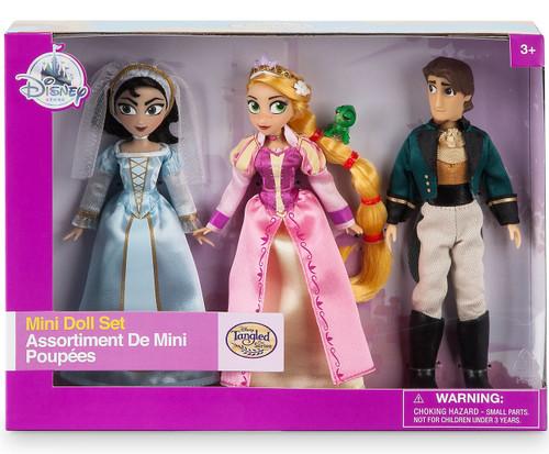 Disney Tangled The Series Rapunzel, Cassandra & Eugene (Flynn) Exclusive 5-Inch Mini Doll 3-Pack Set