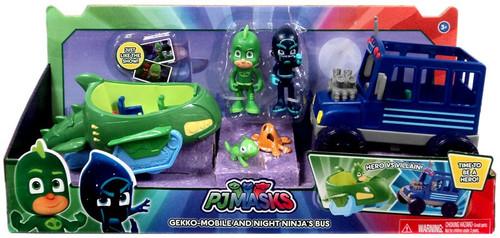Disney Junior PJ Masks Gekko-Mobile & Night Ninja's Sub Exclusive Vehicle & Figure 2-Pack