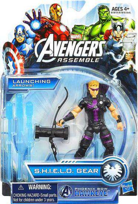 Marvel Avengers Assemble SHIELD Gear Phoenix Bow Hawkeye Action Figure [Damaged Package]