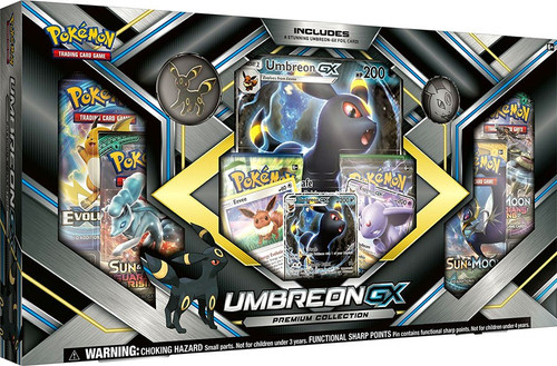 Pokemon Trading Card Game Umbreon GX Premium Collection [6 Booster Packs, 3 Promo Cards, Oversize Card & Pin!]
