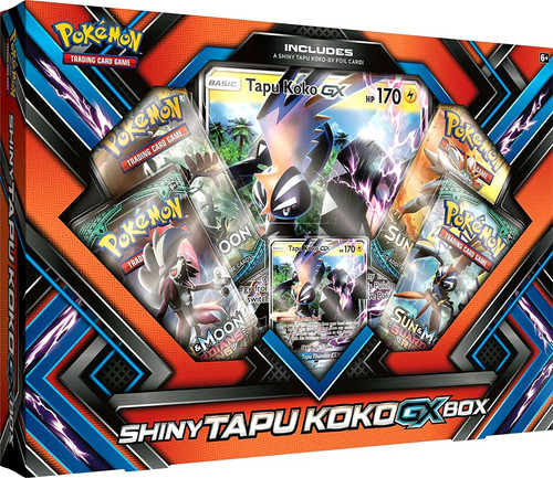 Pokemon Trading Card Game XY Shiny Tapu Koko GX Box [4 Booster Packs, Promo Card & Oversize Card]
