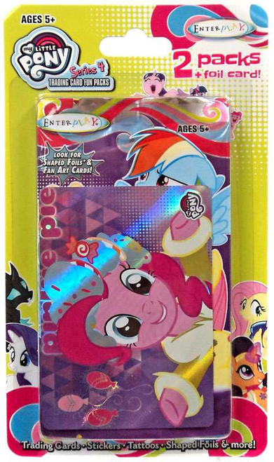 My Little Pony Friendship is Magic Fun Packs Series 4 Pinkie Pie Trading Card 2-Pack [2 Packs + Foil Card]