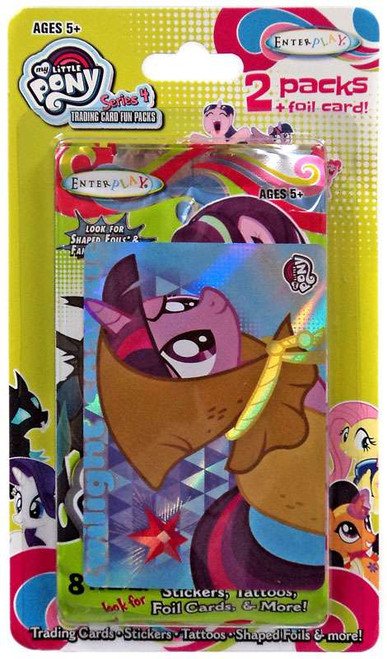 My Little Pony Friendship is Magic Fun Packs Series 4 Twilight Sparkle Trading Card 2-Pack [2 Packs + Foil Card]