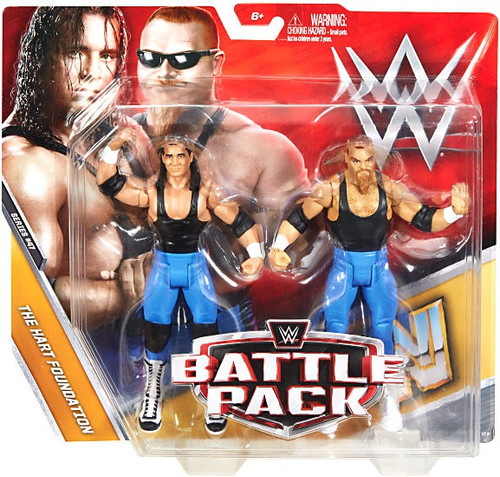 WWE Wrestling Battle Pack Series 47 Bret Hart & Jim The Anvil Neidhart Action Figure 2-Pack [The Hart Foundation]