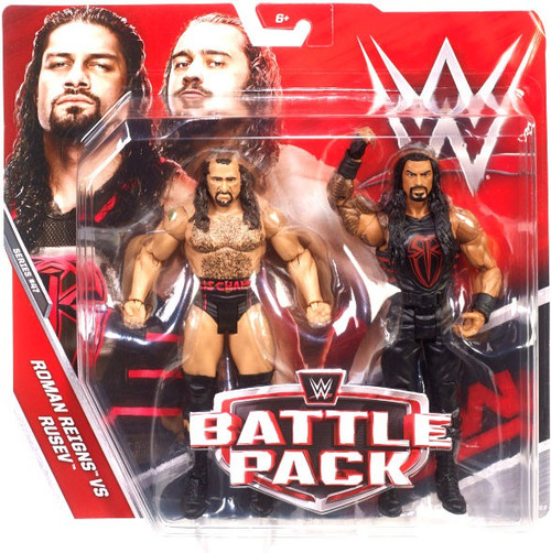 WWE Wrestling Battle Pack Series 47 Rusev & Roman Reigns Action Figure 2-Pack
