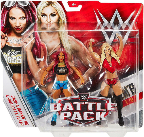 WWE Wrestling Battle Pack Series 47 Sasha Banks & Charlotte Flair Action Figure 2-Pack