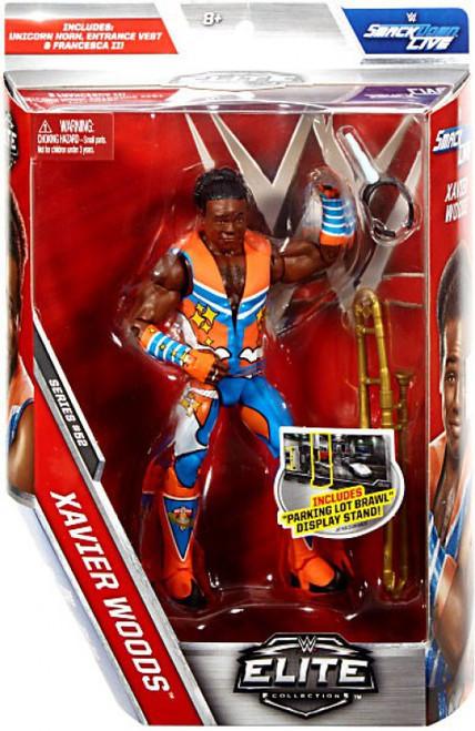 WWE Wrestling Elite Collection Series 52 Xavier Woods Action Figure [Unicorn Horn, Entrance vest & Francesca II]