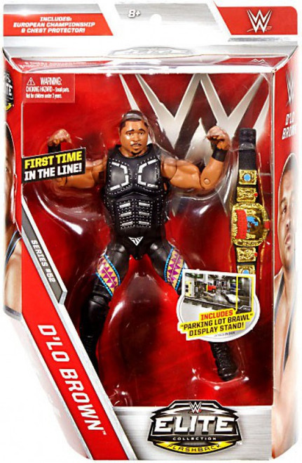 WWE Wrestling Elite Collection Series 52 D-Lo Brown Action Figure [European Championship Belt & Chest Protector]