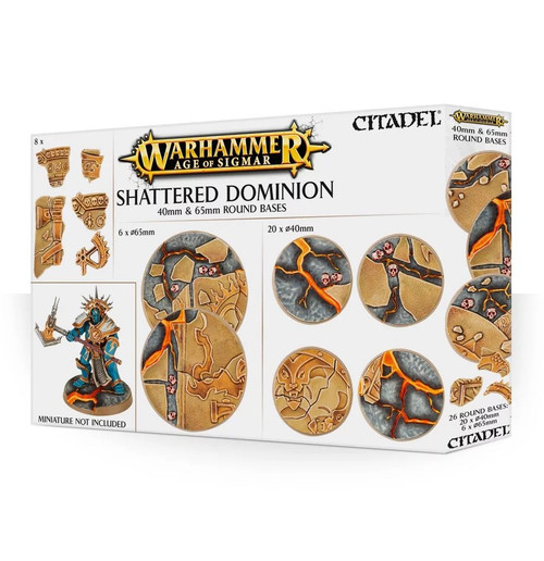Warhammer Age of Sigmar Shattered Dominion 40 * 65mm Round