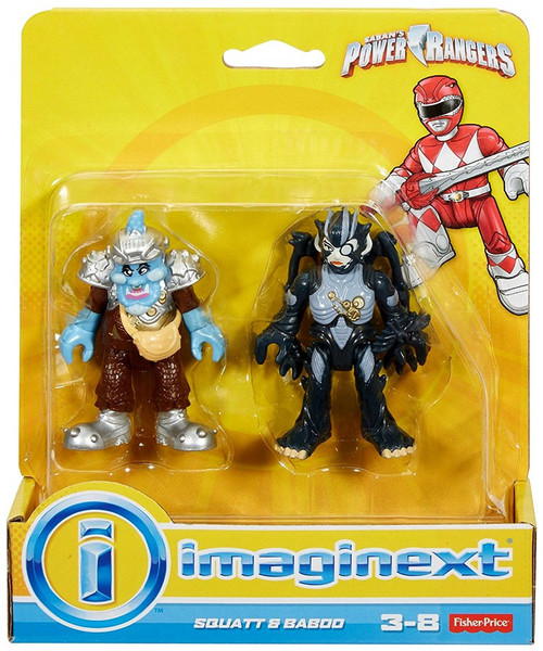 Fisher Price Power Rangers Imaginext Mighty Morphin Squatt & Baboo Mini Figure 2-Pack