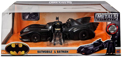 DC 1989 Movie Batmobile & Batman Diecast Vehicle