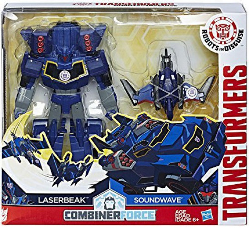 Transformers Robots in Disguise Activators Soundwave & Laserbeak Action Figure [Combiner Force]