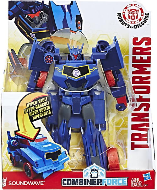 "Transformers Robots in Disguise Hyper Change Heroes Soundwave 10"" Action Figure [3-Step Changer]"
