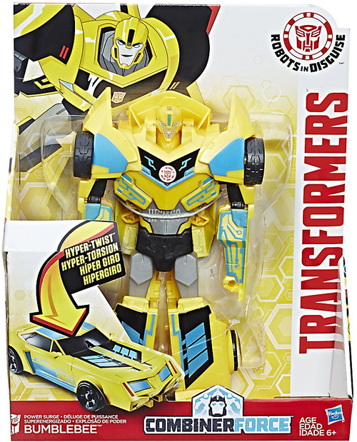 "Transformers Robots in Disguise Hyper Change Heroes Power Surge Bumblebee 10"" Action Figure [3-Step Changer]"