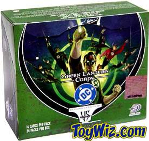 DC VS System Trading Card Game Green Lantern Corps Booster Box [24 Packs] [Sealed]