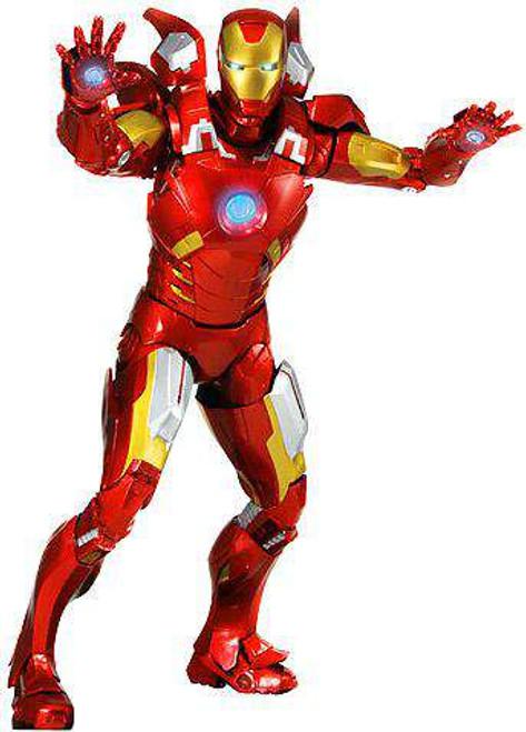 NECA Marvel Avengers Quarter Scale Iron Man Action Figure [Damaged Package]