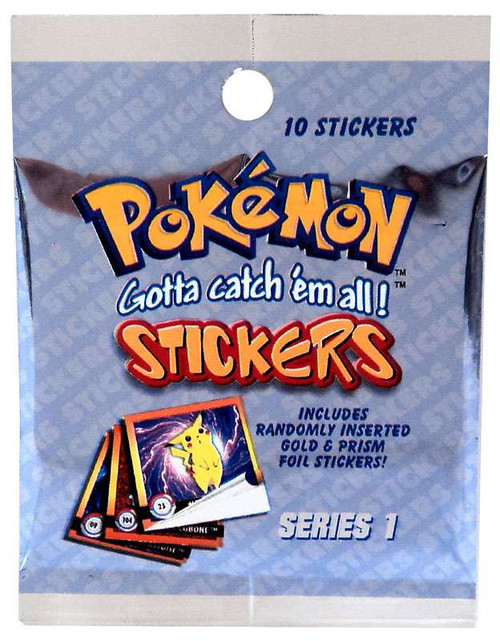 Pokemon Series 1 Sticker Pack [10 Stickers]