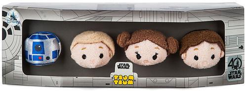Disney Tsum Tsum Star Wars R2-D2, Luke Skywalker, Princess Leia & Han Solo Exclusive 3.5-Inch Mini Plush 4-Pack