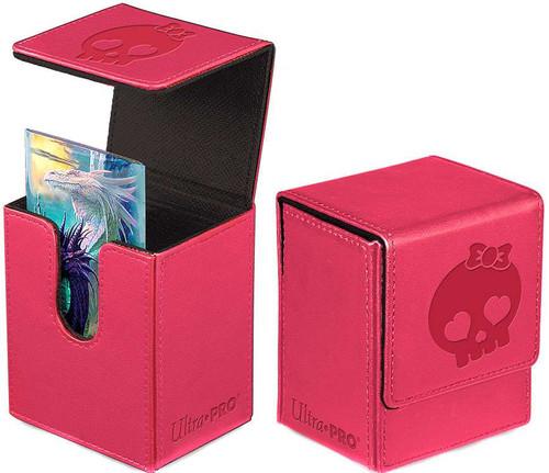 Ultra Pro Premium Flip Cutey Skull Pink Deck Box