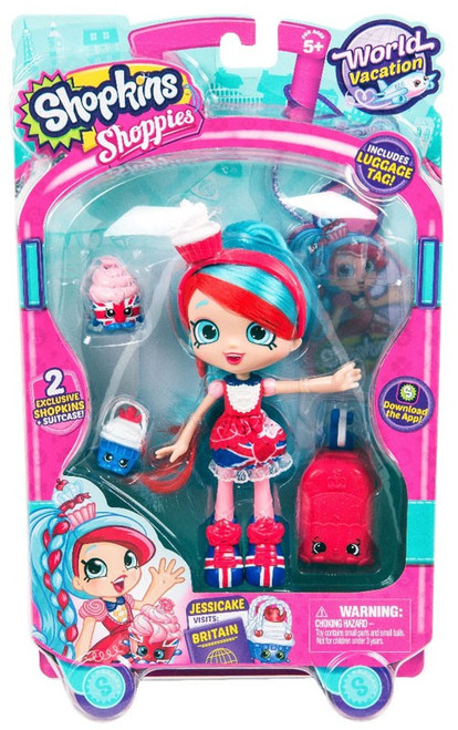 Shopkins Shoppies Season 8 World Vacation Jessicake Doll Figure [Visits Britain]