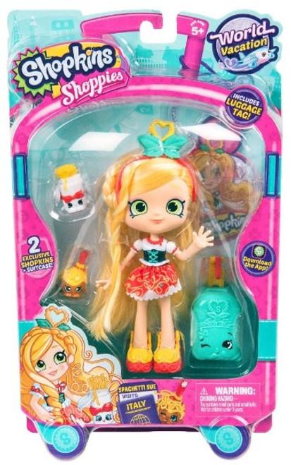 Shopkins Shoppies Season 8 World Vacation Spaghetti Sue Doll Figure [Visits Italy]