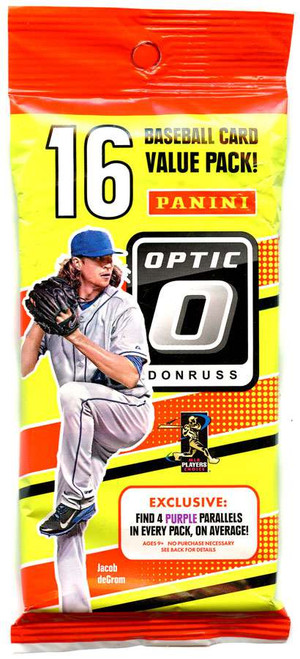 MLB Panini 2016 Donruss Optic Baseball Trading Card VALUE Pack [16 Cards!]