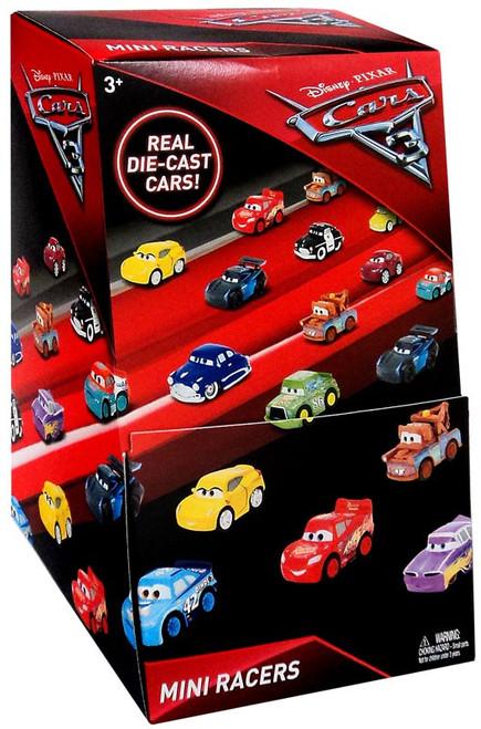 Disney Cars 3 Die Cast Mini Racers Series 1 Mystery Box [36 Packs]