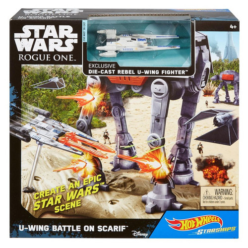 Star Wars Rogue One Hot Wheels U-Wing Battle On Scarif Playset