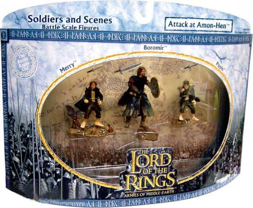 The Lord of the Rings Armies of Middle Earth Soldiers and Scenes Attack At Amon Hen Figure 3-Pack