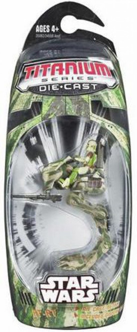 Star Wars The Clone Wars Titanium Series 2006 Hunt for Yoda Camo AT-RT Diecast Vehicle