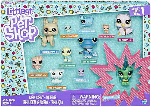 Littlest Pet Shop Cabin Crew Mini Figure 11-Pack