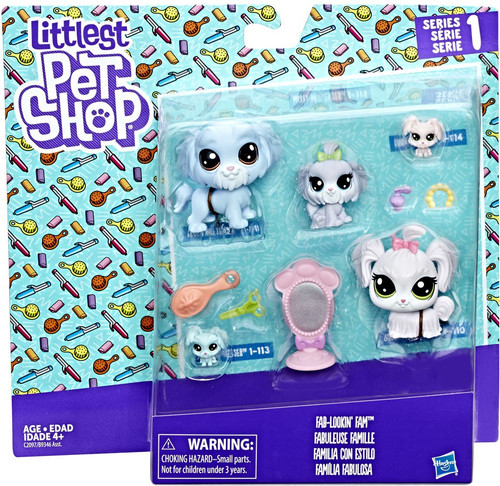 Littlest Pet Shop Fab Lookin Fam Mini Figure Family 5-Pack [Doggies]