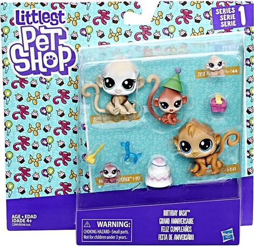 Littlest Pet Shop Birthday Bash Mini Figure Family 5-Pack [Monkeys]