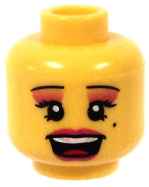 Yellow Female Minifigure Head [Beauty Mark & Eye Shadow Loose]