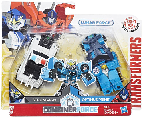 Transformers Robots in Disguise Lunar Force Strongarm & Optimus Prime Action Figure [Crash Combiner]