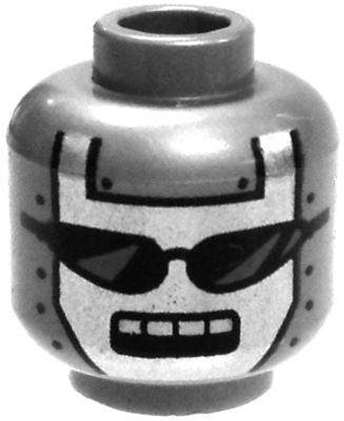 Dark Silver Robot Head with Sunglasses Minifigure Head [Loose]