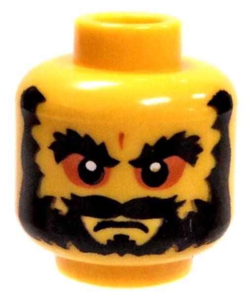 Yellow Male with Black Beard & Bushy Eyebrows Minifigure Head [Loose]