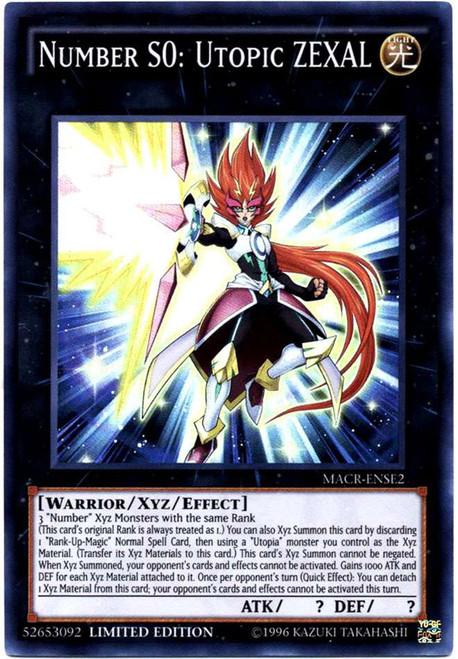 YuGiOh Maximum Crisis Super Rare Number S0: Utopic ZEXAL MACR-ENSE2